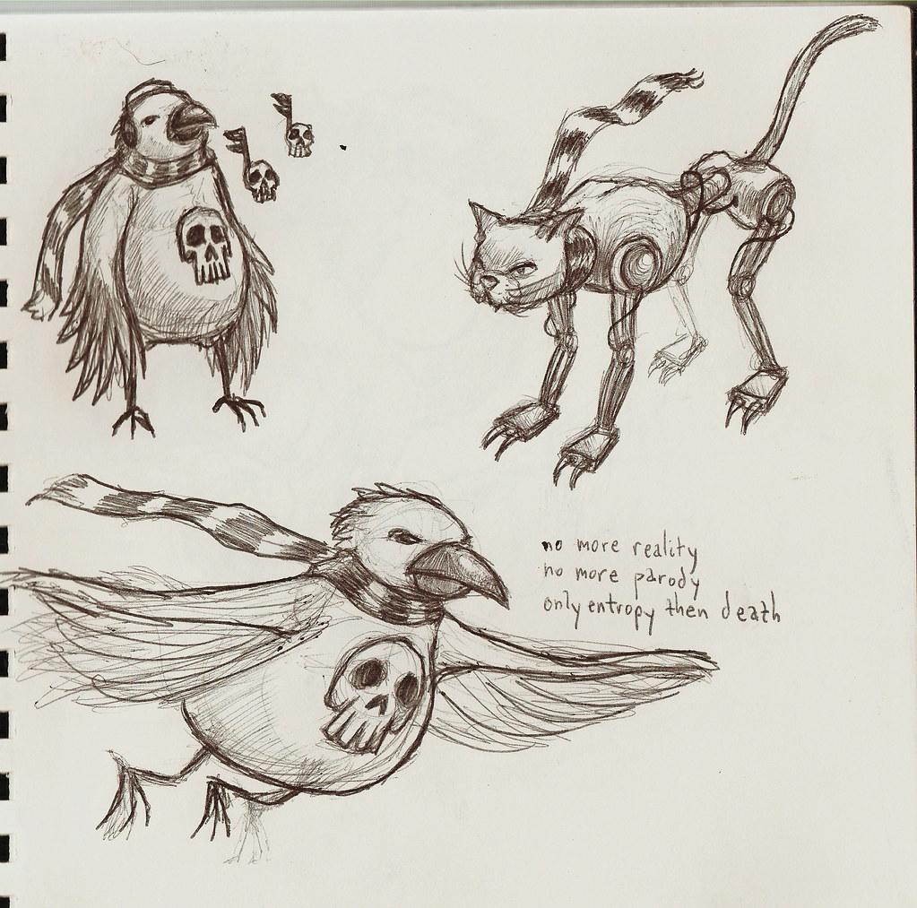 dethbird and katbot
